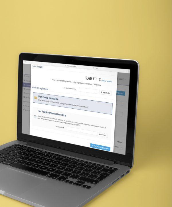 MyDelivengo easy : commande d'étiquettes d'expédition en ligne avec étape de paiement