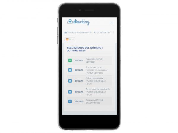 eTracking : historique de suivi accessible sur mobile et multilingue