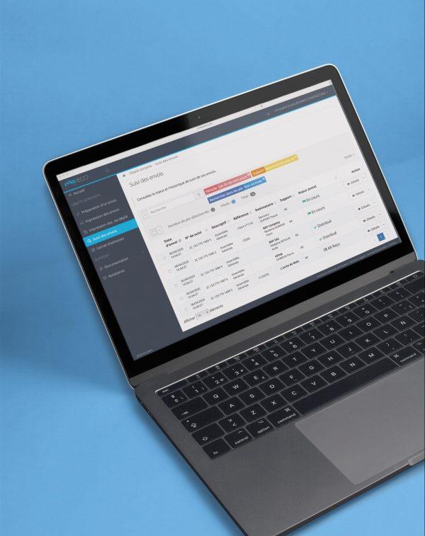 easyReco, interface web pour la préparation d'envois de recommandés